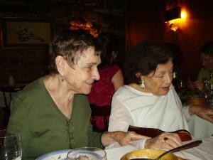 Adrienne Rich y Mavis Gallant. Paris, julio de 2006.