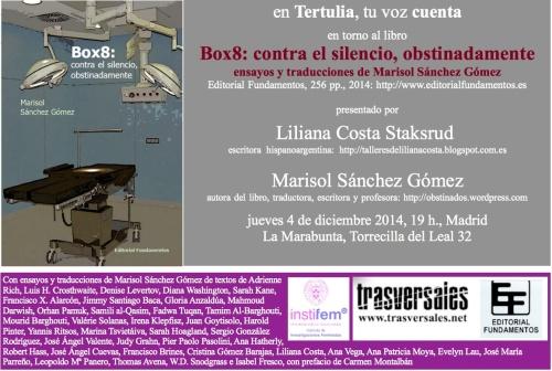 Invitación digital a la presentación del libro